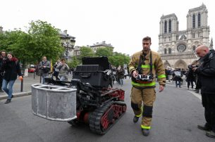 Notre Dame Artifacts saved amid fire with AI Robot 'Colossus'